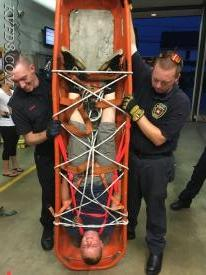 Just hanging around at training!  FF/EMT David Green (L) with Jr. FF Ryan Holmes (C), and FF/EMT Brian Vickers (R).