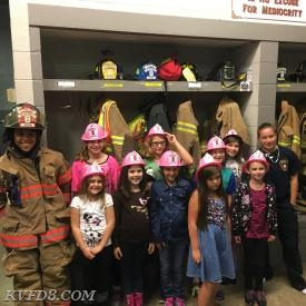 KVFD Jr. Firefighters with the girls.