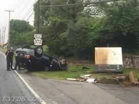 Today's crash in West Sadsbury Township on Lower Valley Road.