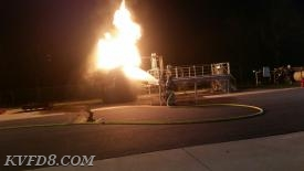 Flammable liquids training at the CCPSTC.   Photo by A. Sharpless