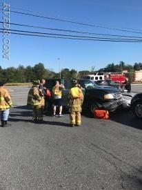 KVFD at today's crash at the Wawa  Photo by S. Kreger
