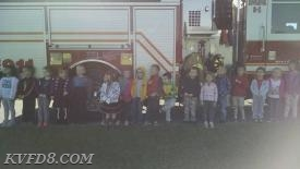 Our friends in front of Engine 8.
