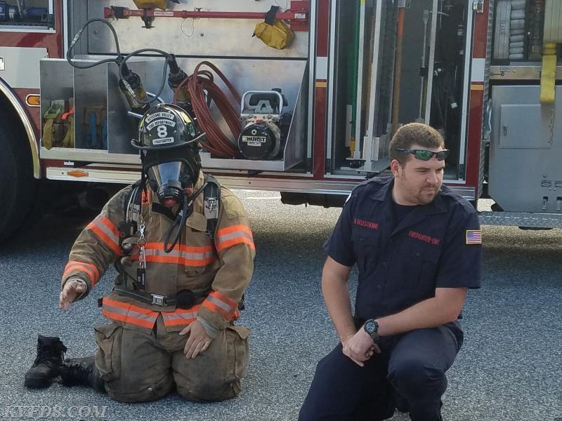 FF/EMT Bambrick (left) with Capt. Delestienne (right)
