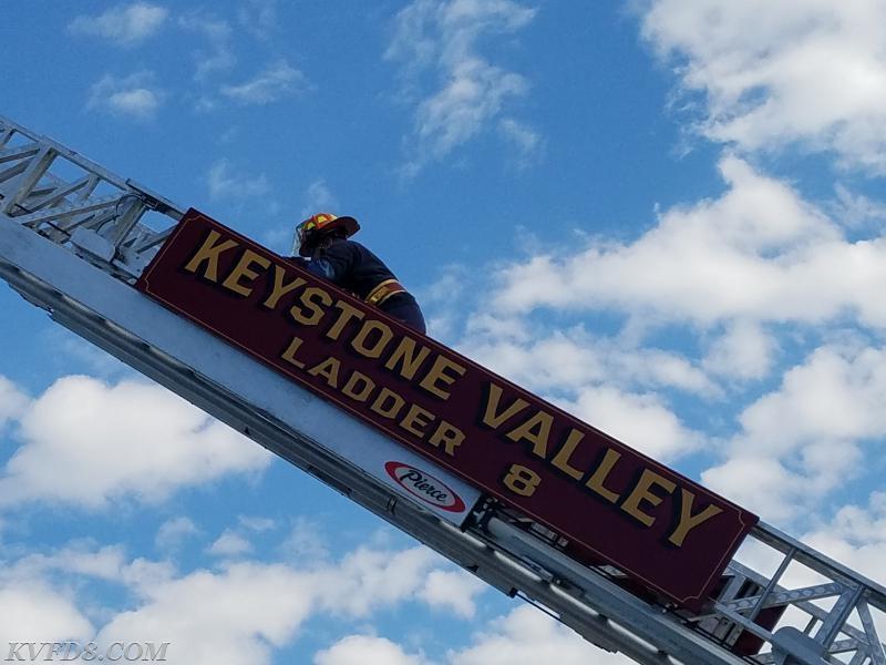 FF/Paramedic Scot Kreger climbing Ladder 8.