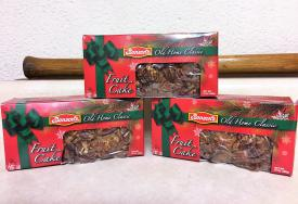 Old Home Classic for sale during the Holiday Season. Benson's Fruit Cakes are chocked full of nuts, fruits and the old fashioned goodness that brings the holiday home with a smile. $15.00 each