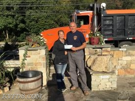 Pictured Jennifer Hanaway of Brandywine Quarry and Tim Reynolds (KVFD)
