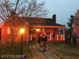 Firefighters on scene at this morning's house fire.