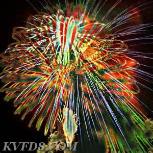 Fireworks on Saturday, July 7, 2018, at Community Day in Minch Park.