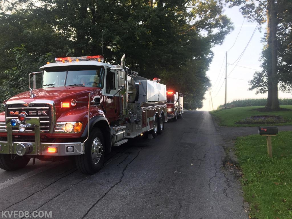 Tanker and Engine 8 on-scene