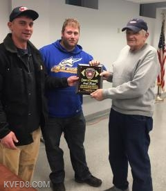 George Budzik (The longest serving currently active firefighter) recognized with the 2018 Chief's Award