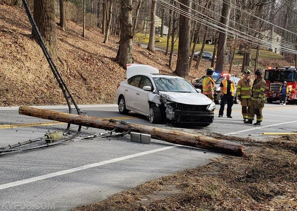 Today's crash on Rt. 10.   Photo by J.Jones