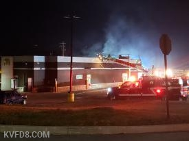 Today's fire at McDonald's.   Photo by T. Cunningham