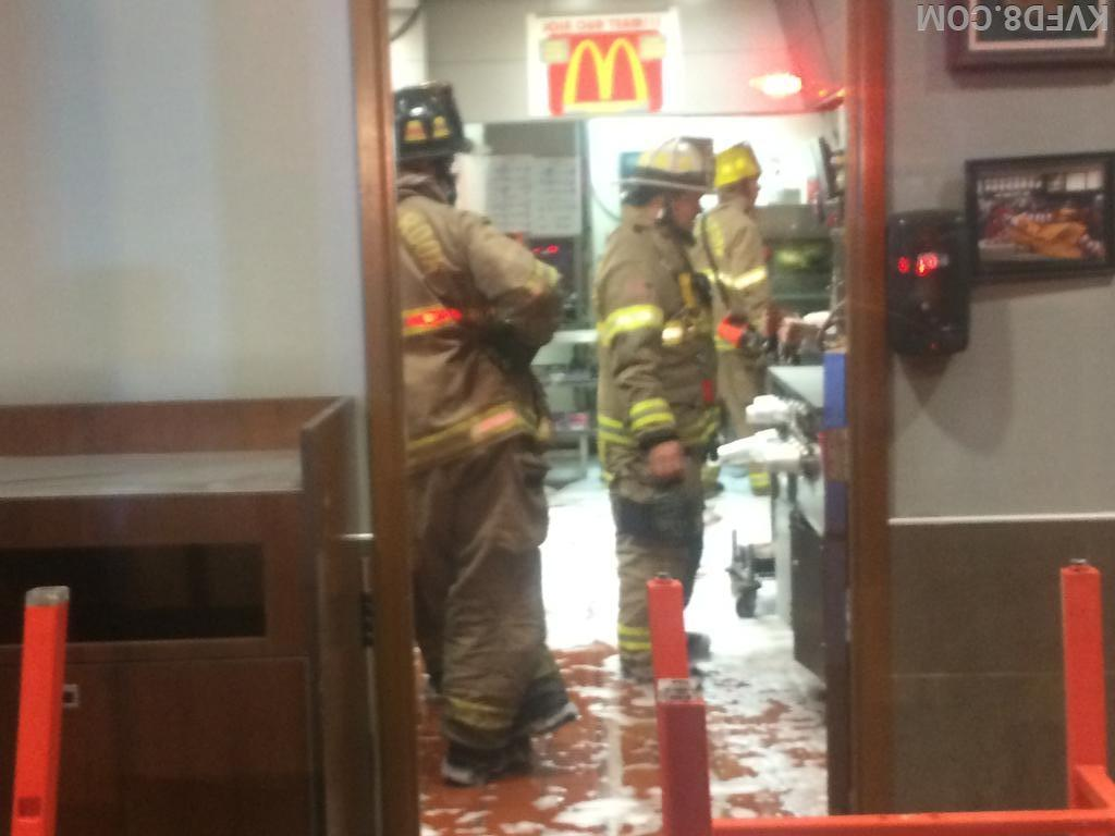 Firefighters checking the damage.  Photo by Eng. Rhoades