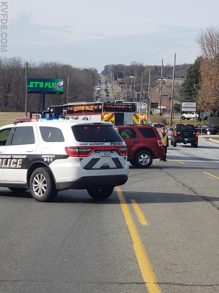 Today's crash in West Sadsbury Township  Photos by Tim Cunningham