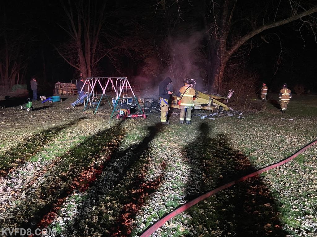 Station 8 firefighters on-scene at a RV fire in West Sadsbury