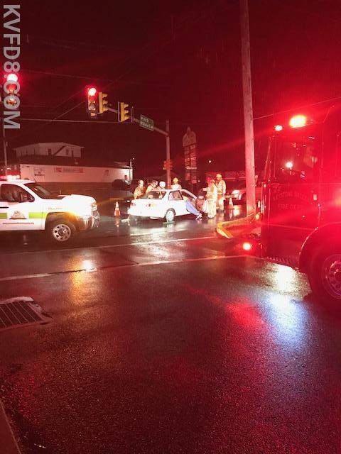 Rescue 8 on-scene at the crash