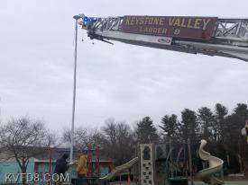 Ladder 8 assists at Minch Park