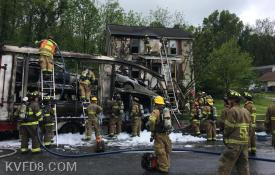 Serious crash with fire in Gap  Photo by FF/EMT Stephanie A. Klingler