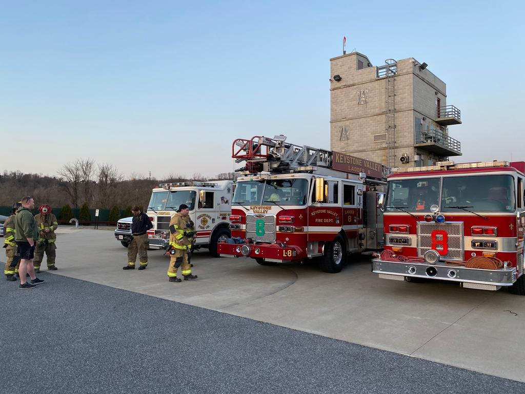 Crews Staging before Training