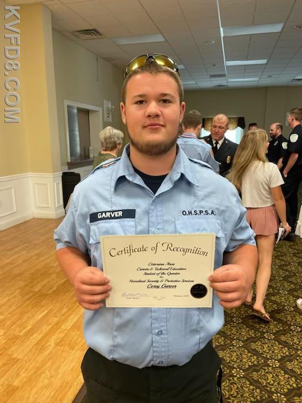 Jr. Firefighter Corey Garver