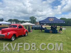KVFD tent set-up for Fire Prevention and Recruitment