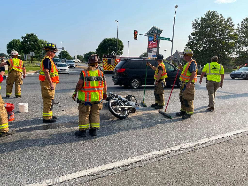 Motorcycle accident on Rt. #30
