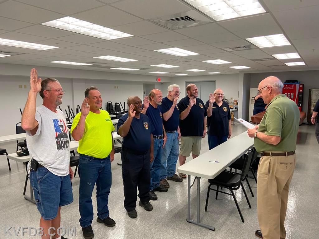 KVFD fire police sworn in by the mayor