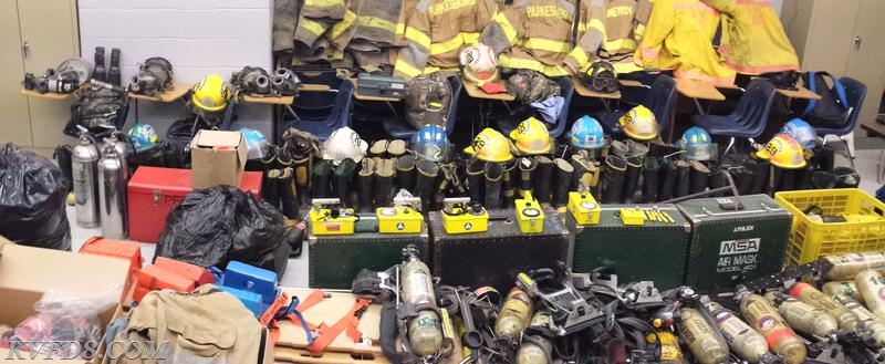 Gear, SCBA and other equipment donated to OASD.